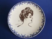 Royal Doulton Art Nouveau 'Gibson Girl' Portrait Plate c1902